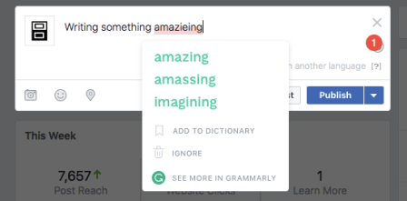 Grammarly on Facebook
