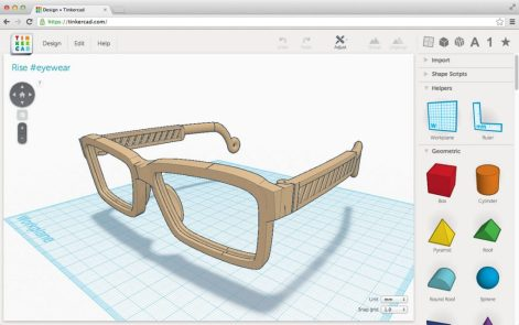 Creating 3D CAD models on Tinkercad