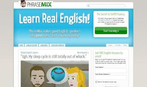 Phrasemix meilleurs sites Web d'apprentissage d'anglais gratuits