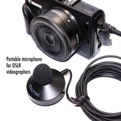 external microphone for PC DSLR GoPro Hero4