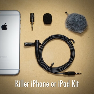 Edutige Boost Your Sound External Microphone Bundle for iPhone 6 iphone 5s iphone 5 iphone 4s iPad MacBook