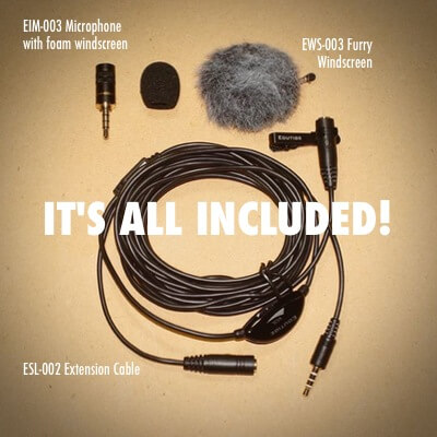 EIM-003 external microphone for iPhone iPad Mac