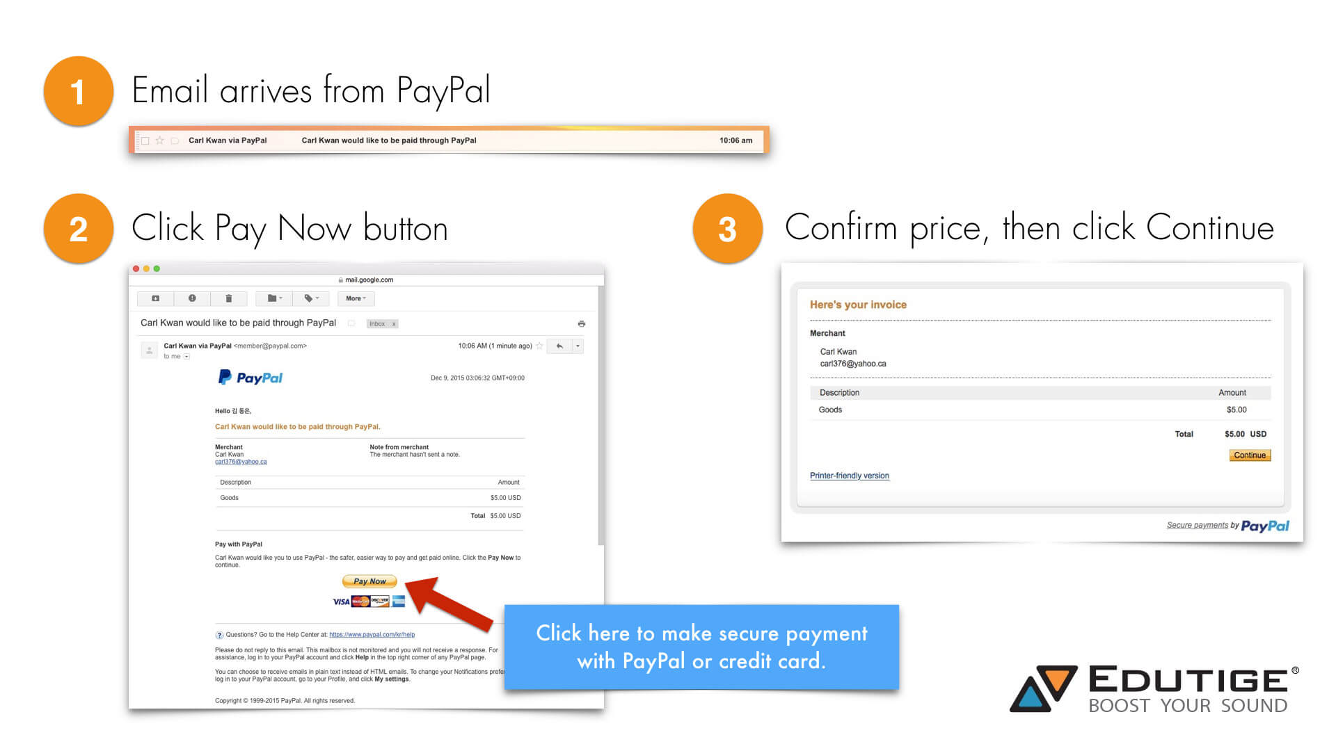 how to pay using pay pal
