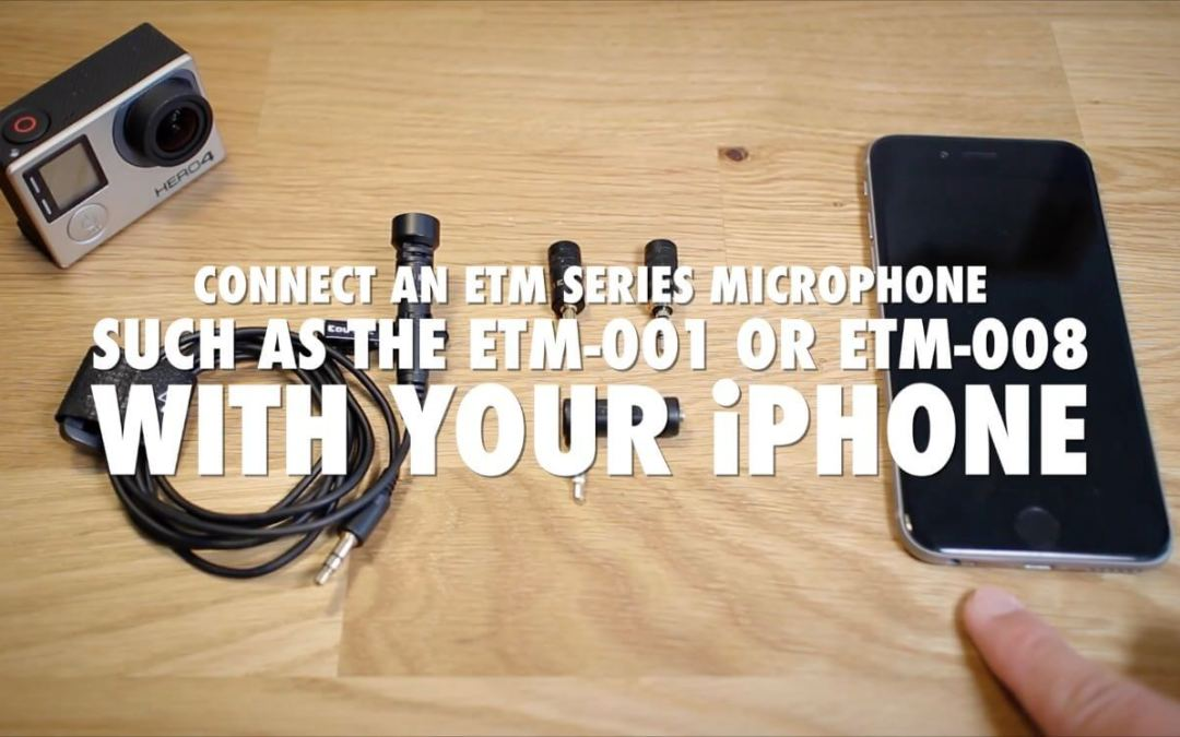 How to connect an ETM series microphone to your iPhone [VIDEO]