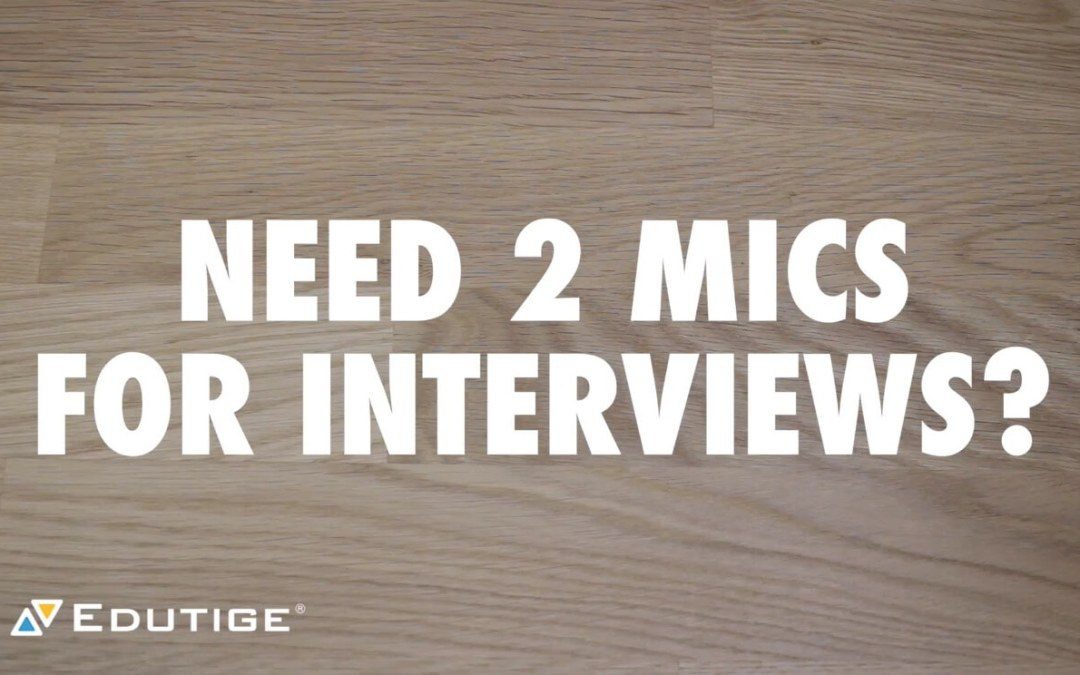 How to Connect Two Mics to a Camera for Interviews