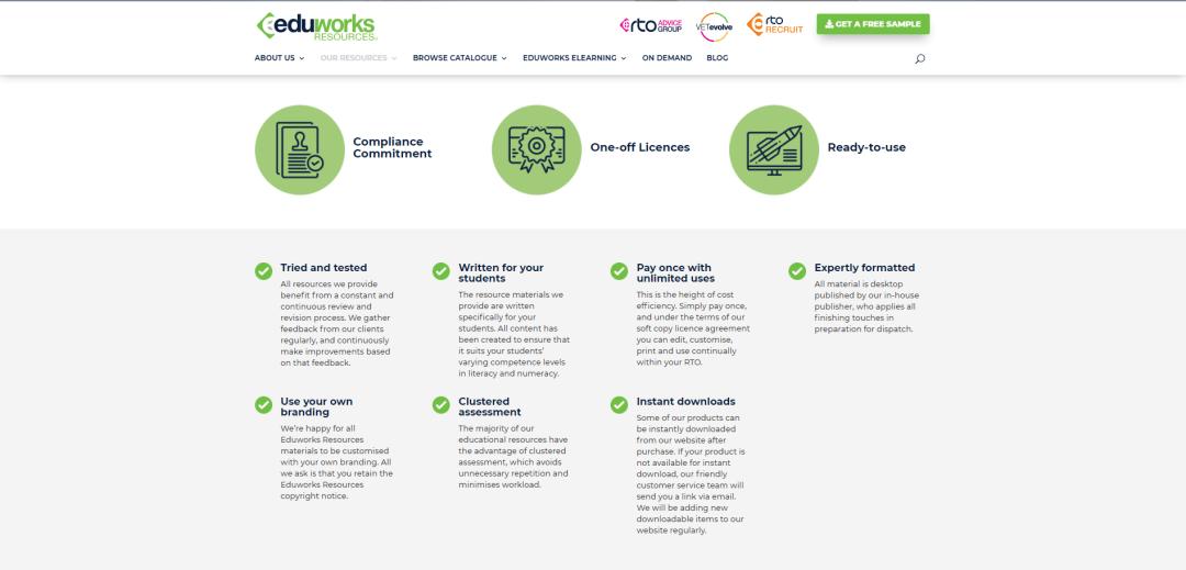 Upgraded Eduworks Resources Website resources 1