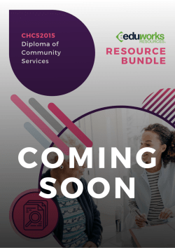 CHC52015 Resource Package Coming soon