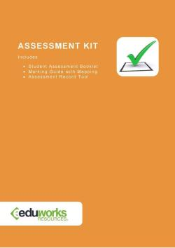 Assessment Kit (Cluster) - CHCECE017, CHCECE018, CHCECE022, CHCECE024 - Development and Curriculum