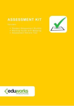 Assessment Kit - CHCECE011 Provide experiences to support children's play and learning