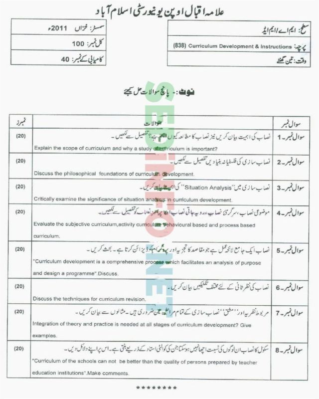 AIOU-MEd-Code-838-Past-Papers-Autumn-2011