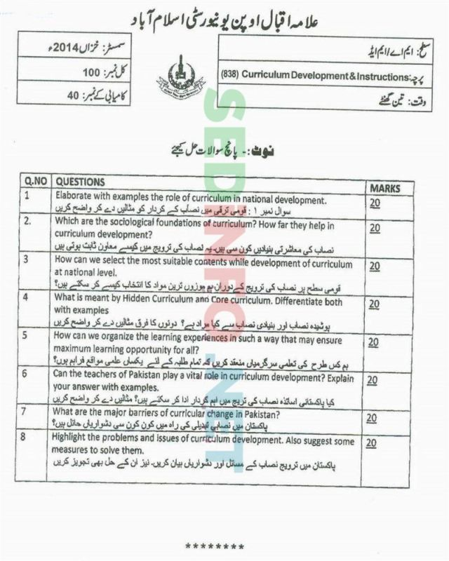 AIOU-MEd-Code-838-Past-Papers-Autumn-2014