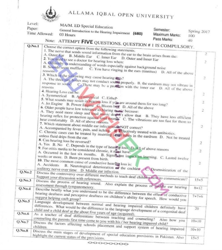 AIOU-MEd-Code-680-Past-Papers-Spring-2017