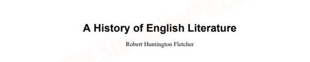 Download A Short History of English Literature