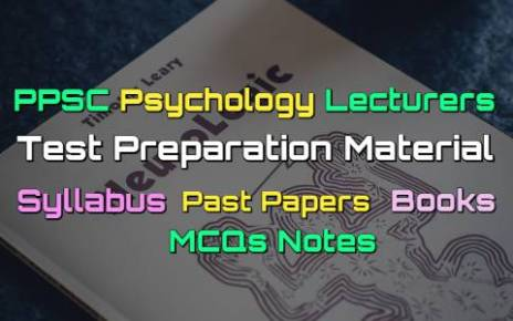 PPSC Psychology Lecturers Past Papers - Books - MCQs Notes fi
