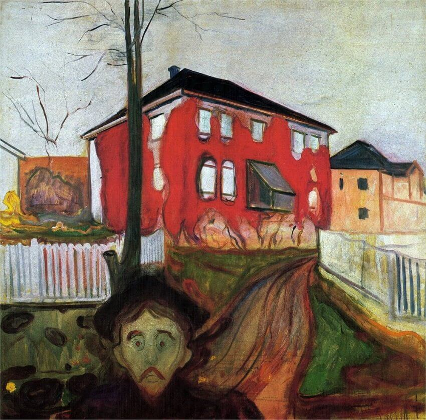 Image result for red house by munch