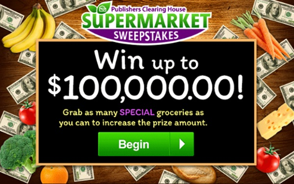 Publishers Clearing House $1000000 Supermarket Sweepstakes