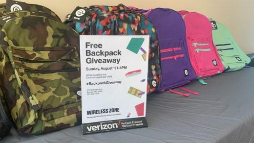 Verizon Wireless Backpack Giveaway