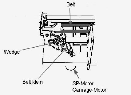Antriebsriemen Zahnriemen Belt HP DesignJet Plotter 750 T610