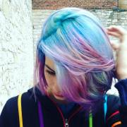 pastel blue green pink and purple
