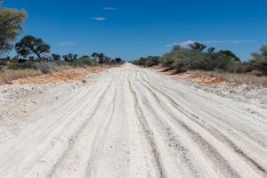 Kgalagadi NP toegangsweg / Botswana
