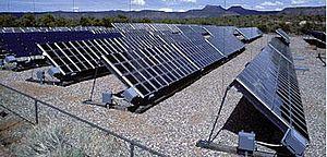 English: The solar array at Natural Bridges Na...