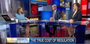 """Ed Conard and Fox News's Liz MacDonald discuss whether the cost of  federal regulation will carry a $1.88 trillion price tag for taxpayers on Fox Business News's """"Risk and Reward with Deirdre Bolton""""."""