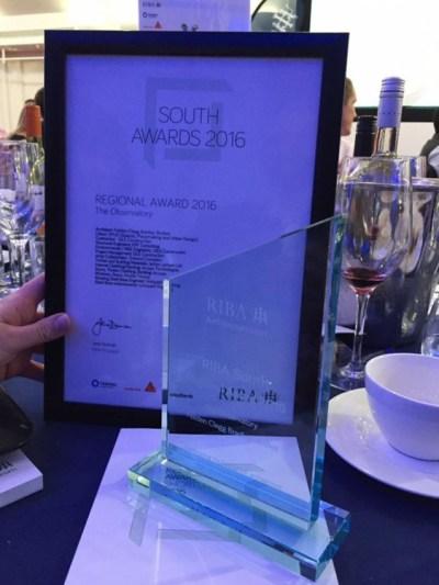 2016 RIBA South Award Certificate 1