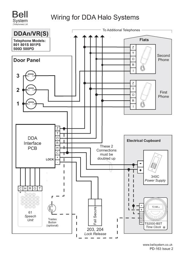 door release button wiring diagram