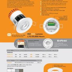 Light Wiring Diagram 5 7 Vortec Knocking When Cold Enlite En-de82sn/40 Led Dimmer 8w Ip20 Fire Rate Tilt Downlight 3k - Edwardes