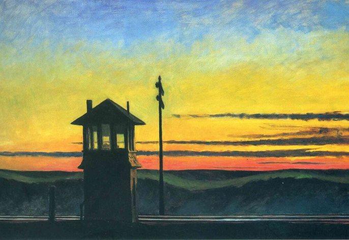 edward hopper railroad sunset ile ilgili görsel sonucu