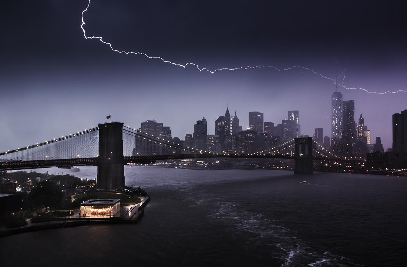 Lightning over Manhattan  Edward Reese Photography
