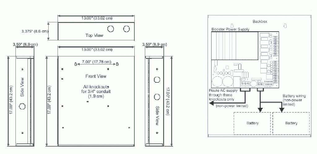 fire alarm booster panel wiring diagram