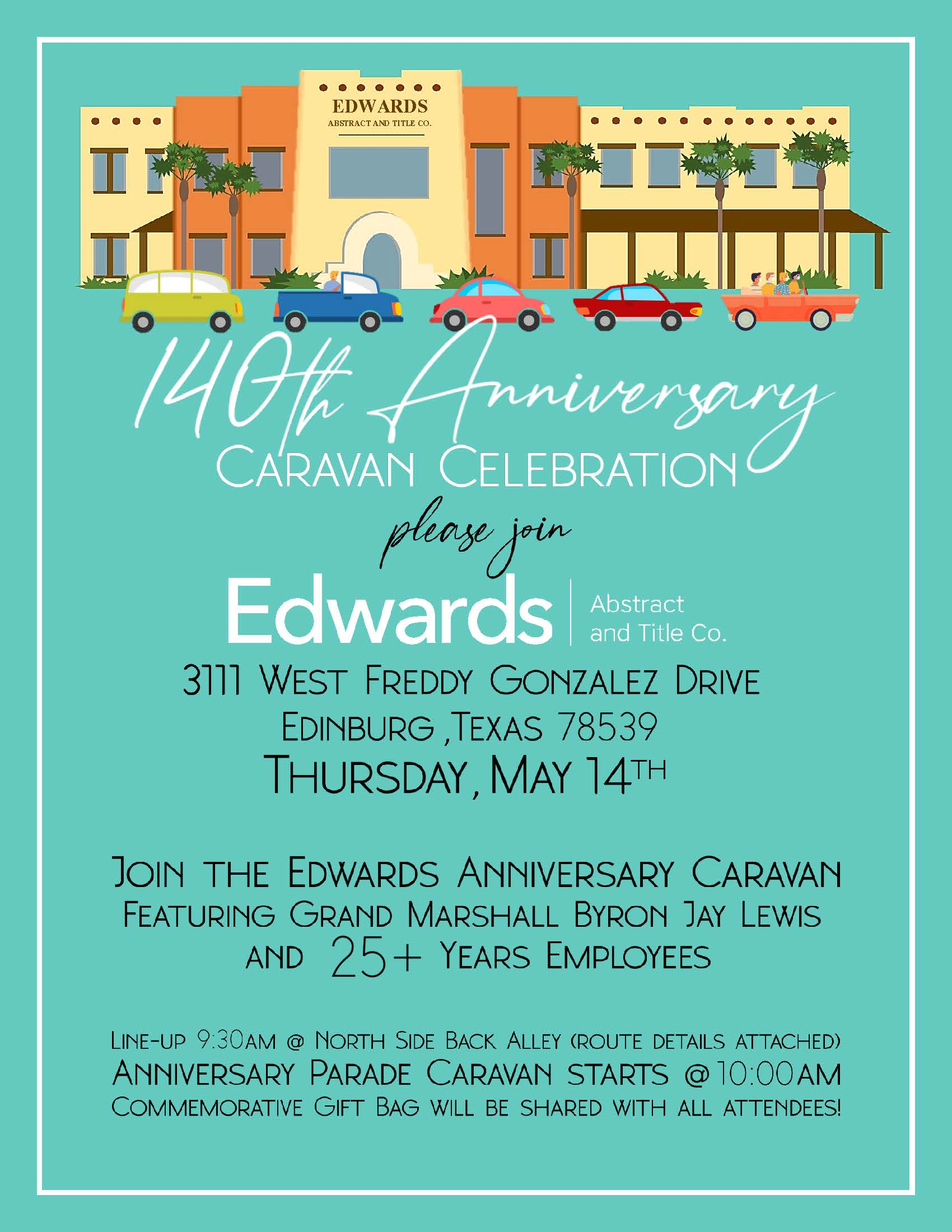 140th Anniversary Caravan Celebration
