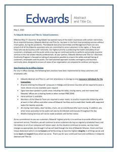 Edwards Work Safe Measures