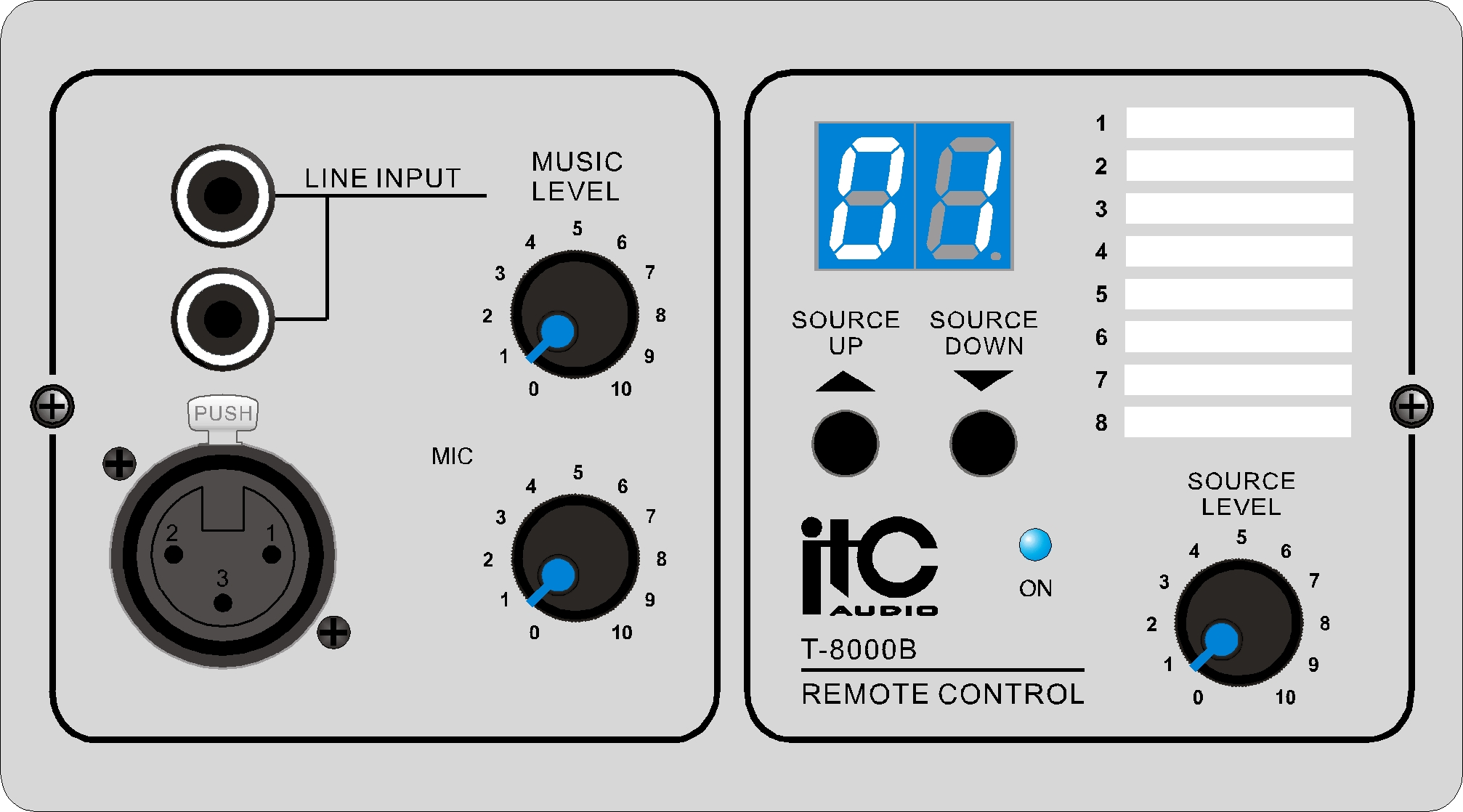 Remote Control Panel For Audio Matrix