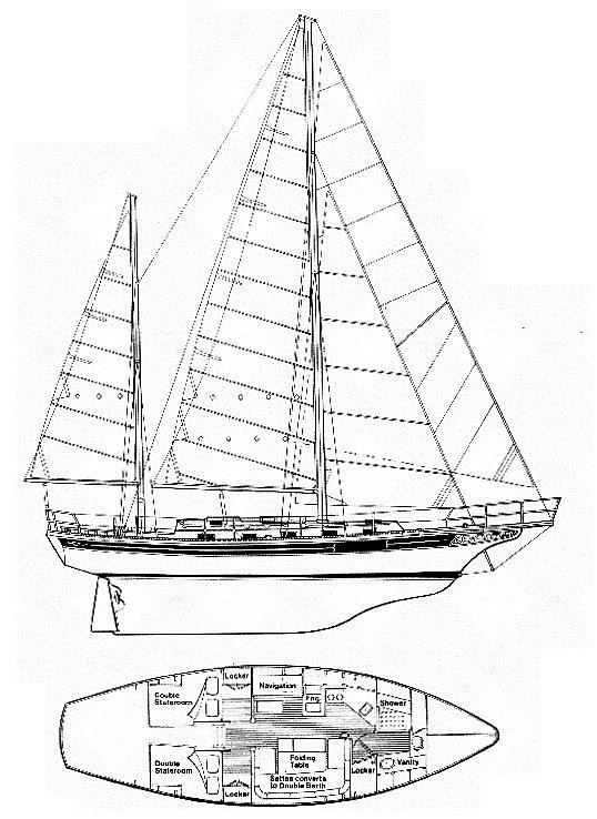 1983 Bayfield Yachts Cutter Ketch 40 Boats for Sale
