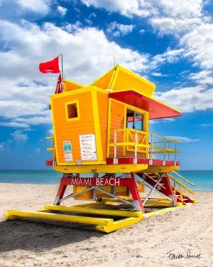 Lifeguard Tower 3 St Left Side Portrait