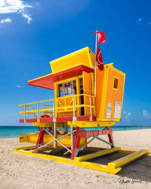 Lifeguard Tower 3 St Right Side Portrait