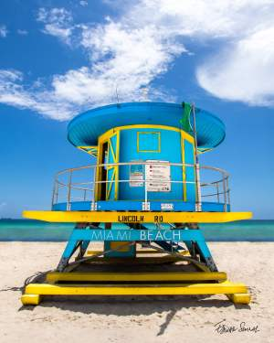 Lifeguard Tower Lincoln Rd Straight Portrait