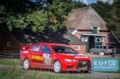 Jasper van den Heuvel - Lisette Bakker - Mitsubishi Lancer EVO 10 - Unica Schutte ICT Hellendoorn Rally 2015