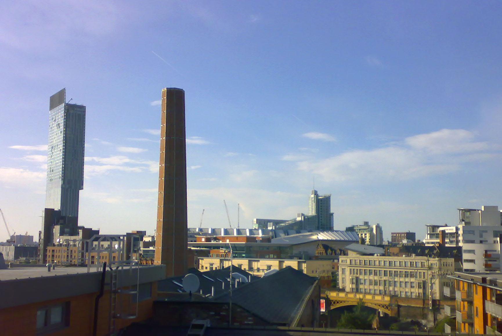 Manchester skyline from Student Village