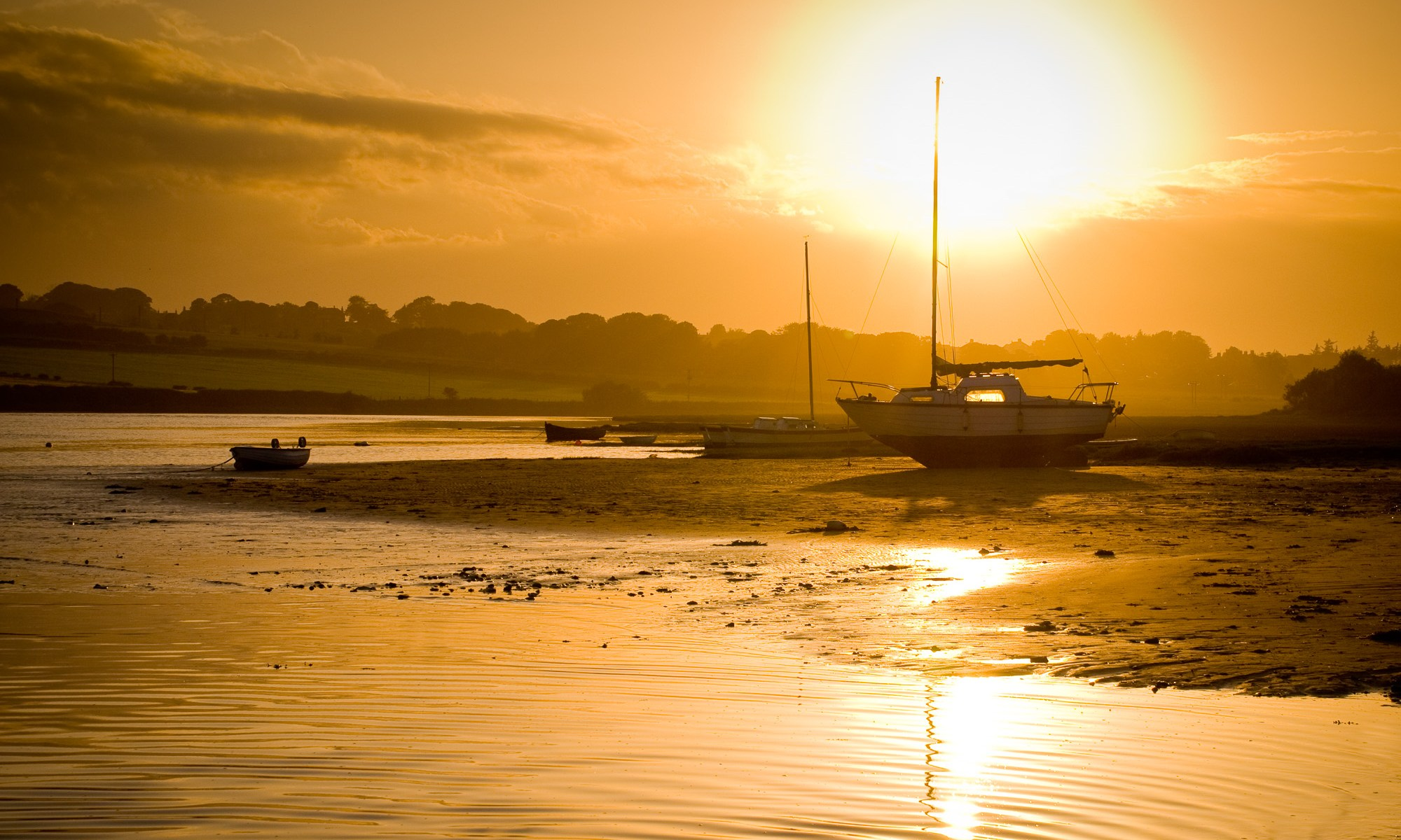 Sunset on Alnmouth, Northumberland