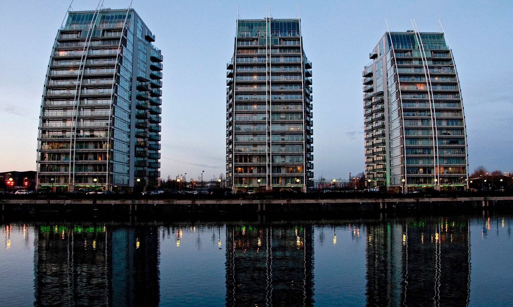 NV Buildings at Dusk, Salford Quays