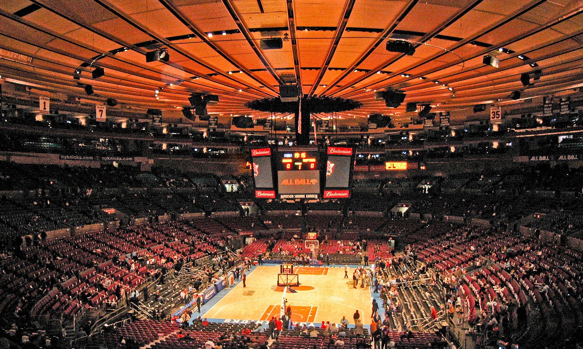 Basket Ball at Madison Square Gardens