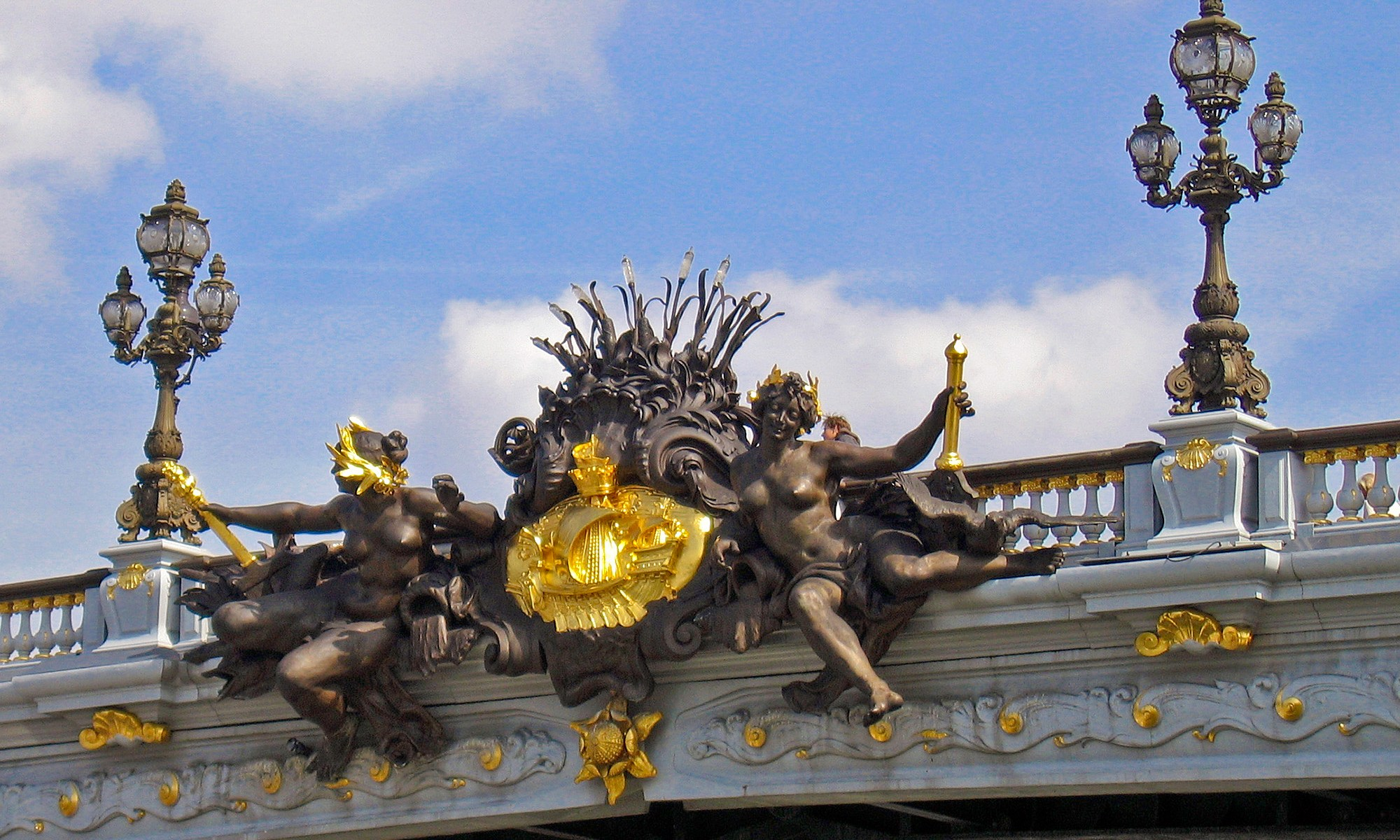 Ornamental Parisian Bridge Detail