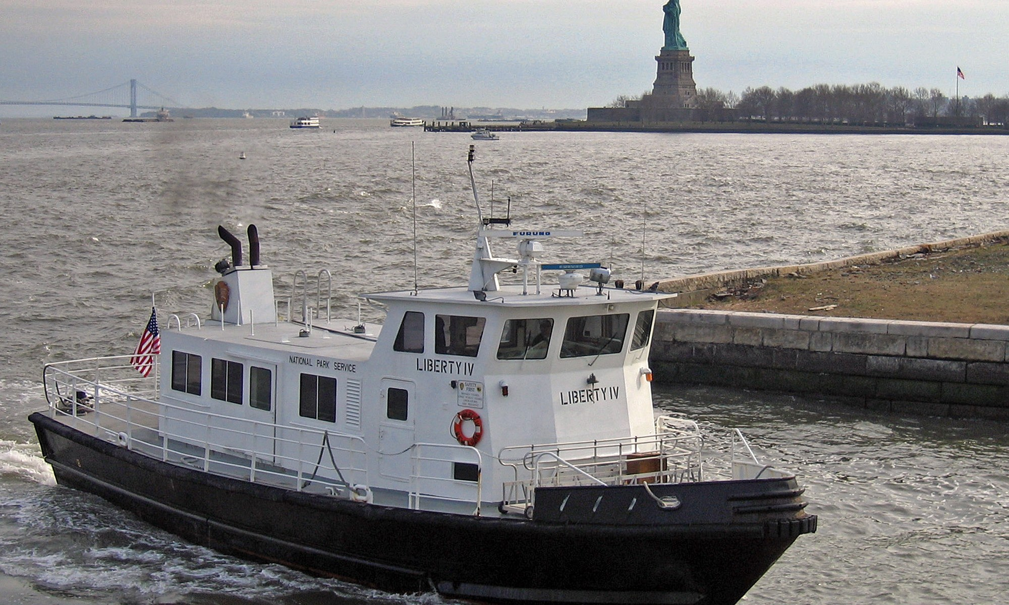 Liberty IV Ferry from Statue of Liberty