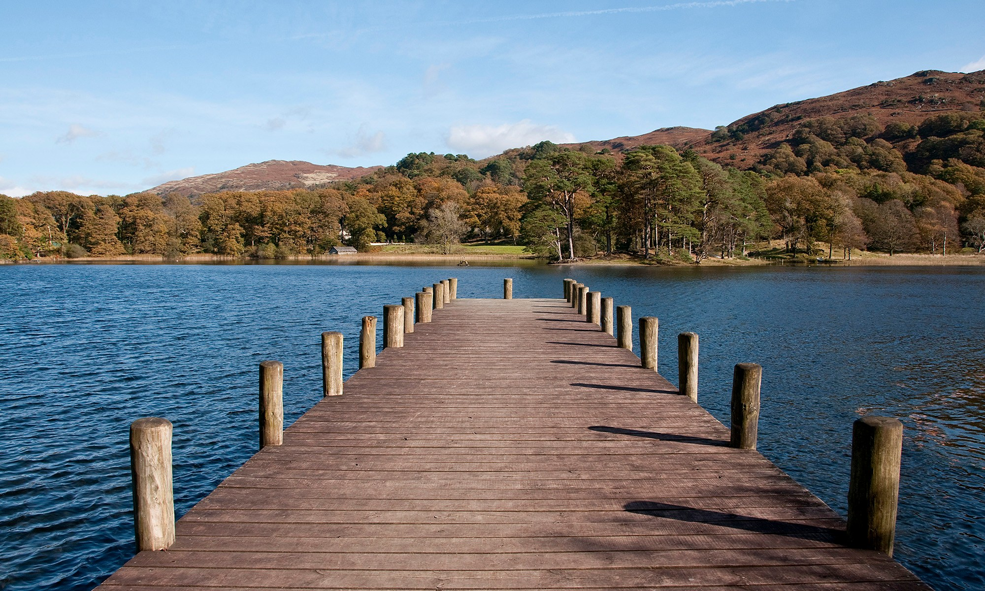Jetty onto Coniston Water, Lake District