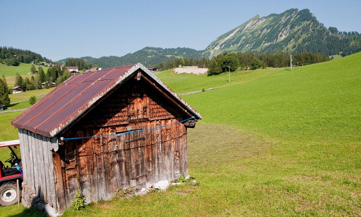 Wooden Shed in Amden, Switzerland