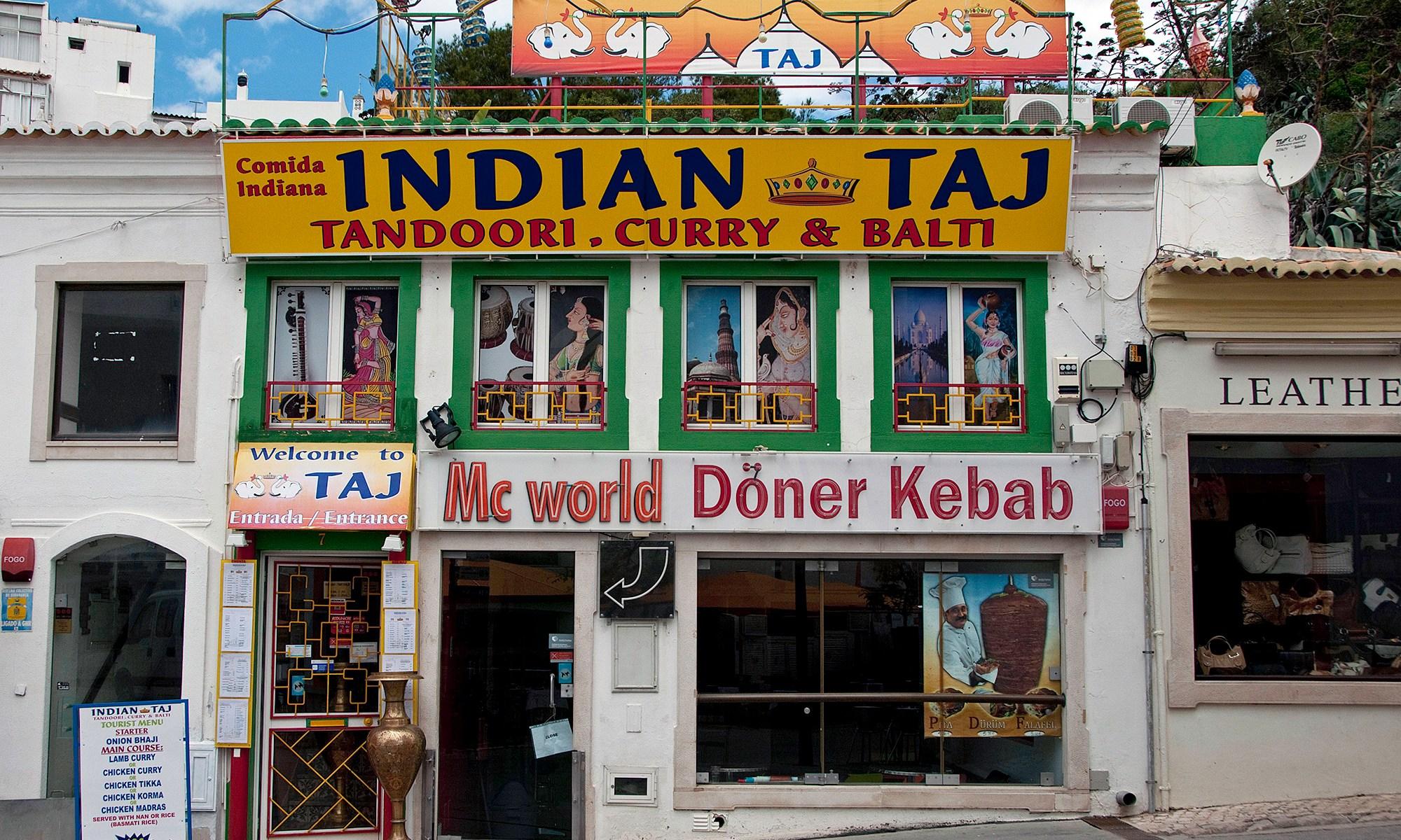 Mc world and Indian Taj, Alburfeira