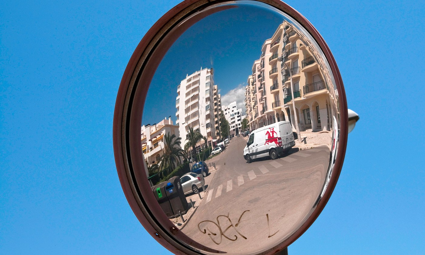 Curved Mirror on the Streets of Vilamoura